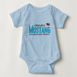 I Rescued a Mustang (Female Horse) Baby Bodysuit