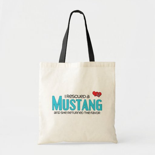 I Rescued a Mustang (Female Horse) Canvas Bags