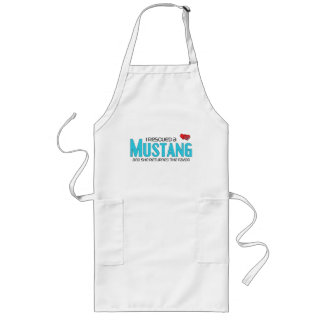 I Rescued a Mustang (Female Horse) Long Apron
