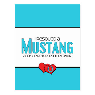 I Rescued a Mustang (Female Horse) Postcard