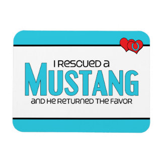 I Rescued a Mustang (Male Horse) Magnet