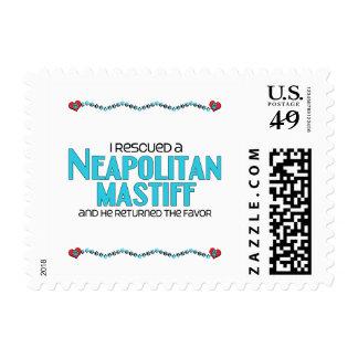 I Rescued a Neapolitan Mastiff (Male Dog) Postage Stamp