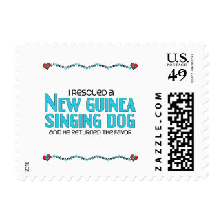 I Rescued a New Guinea Singing Dog (Male Dog) Postage Stamps