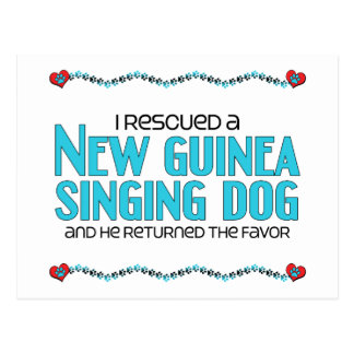 I Rescued a New Guinea Singing Dog (Male Dog) Postcard