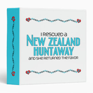 I Rescued a New Zealand Huntaway (Female Dog) 3 Ring Binder