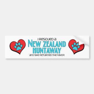 I Rescued a New Zealand Huntaway Female Dog Bumper Sticker
