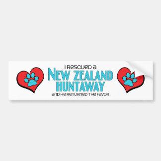I Rescued a New Zealand Huntaway Male Dog Bumper Stickers