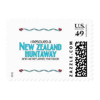 I Rescued a New Zealand Huntaway (Male Dog) Postage Stamps