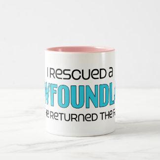 I Rescued a Newfoundland (Male Dog) Mug