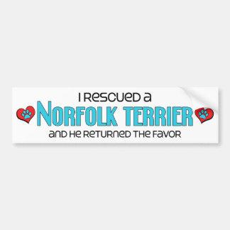 I Rescued a Norfolk Terrier (Male Dog) Bumper Sticker