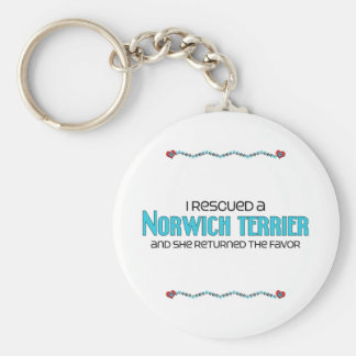 I Rescued a Norwich Terrier (Female Dog) Key Chain