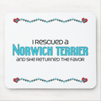 I Rescued a Norwich Terrier (Female Dog) Mousepad