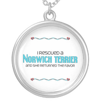 I Rescued a Norwich Terrier (Female Dog) Personalized Necklace