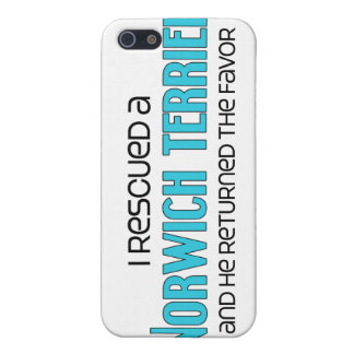 I Rescued a Norwich Terrier (Male Dog) Cover For iPhone 5