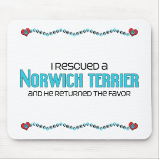 I Rescued a Norwich Terrier (Male Dog) Mouse Pad