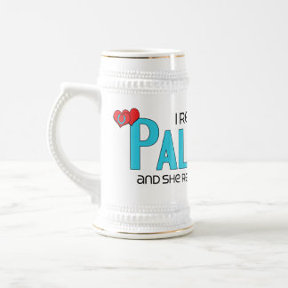 I Rescued a Palomino (Female Horse) 18 Oz Beer Stein