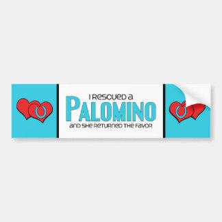 I Rescued a Palomino (Female Horse) Bumper Stickers
