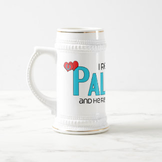 I Rescued a Palomino (Male Horse) 18 Oz Beer Stein