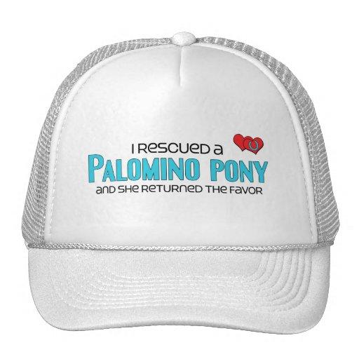 I Rescued a Palomino Pony (Female Pony) Mesh Hat