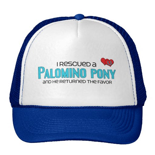 I Rescued a Palomino Pony (Male Pony) Mesh Hat