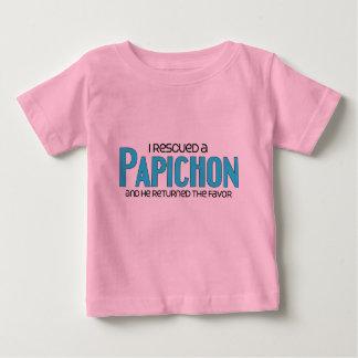 I Rescued a Papichon (Male) Dog Adoption Design Tee Shirt