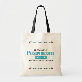 I Rescued a Parson Russell Terrier (Female Dog) Tote Bag