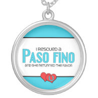 I Rescued a Paso Fino (Female Horse) Necklace