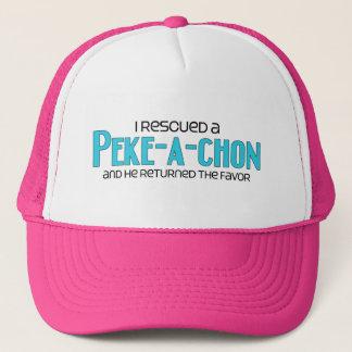 I Rescued a Peke-a-Chon (Male) Dog Adoption Design Trucker Hat