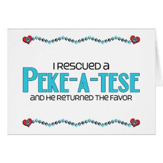 I Rescued a Peke-A-Tese (Male) Dog Adoption Design Card