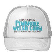 I Rescued a Pembroke Welsh Corgi (Male Dog) Mesh Hats