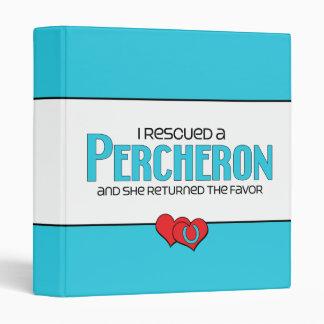 I Rescued a Percheron (Female Horse) Vinyl Binders