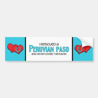 I Rescued a Peruvian Paso (Male Horse) Bumper Sticker