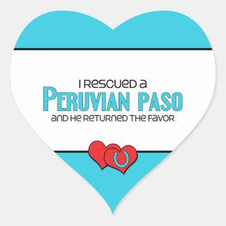 I Rescued a Peruvian Paso (Male Horse) Heart Sticker