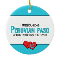 I Rescued a Peruvian Paso (Male Horse) Christmas Tree Ornaments