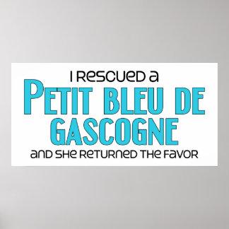 I Rescued a Petit Bleu de Gascogne (Female Dog) Poster