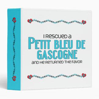 I Rescued a Petit Bleu de Gascogne (Male Dog) 3 Ring Binders
