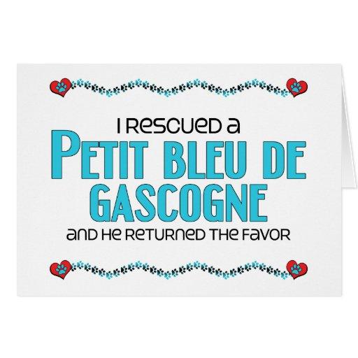 I Rescued a Petit Bleu de Gascogne (Male Dog) Card