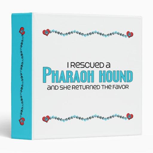 I Rescued a Pharaoh Hound (Female Dog) 3 Ring Binder