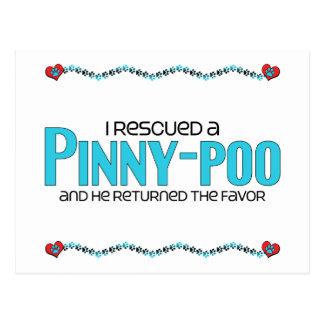 I Rescued a Pinny-Poo (Male) Dog Adoption Design Postcard
