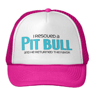 I Rescued a Pit Bull (Male Dog) Trucker Hat
