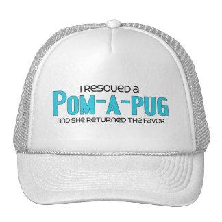 I Rescued a Pom-A-Pug Female Dog Adoption Design Hat