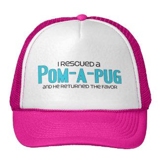I Rescued a Pom-A-Pug (Male) Dog Adoption Design Trucker Hat