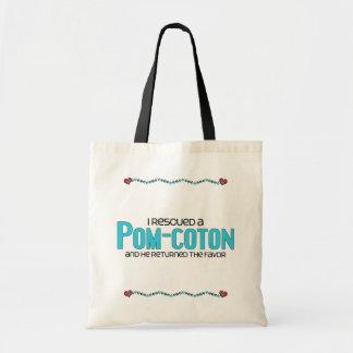 I Rescued a Pom-Coton (Male) Dog Adoption Design Budget Tote Bag
