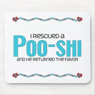 I Rescued a Poo-Shi (Male) Dog Adoption Design Mouse Pad