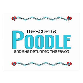 I Rescued a Poodle (Female Dog) Postcard