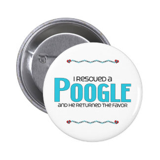I Rescued a Poogle (Male) Dog Adoption Design 2 Inch Round Button