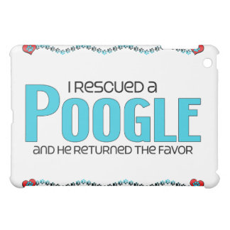 I Rescued a Poogle (Male) Dog Adoption Design iPad Mini Covers