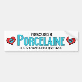 I Rescued a Porcelaine (Female Dog) Bumper Sticker