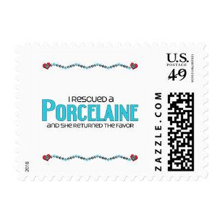 I Rescued a Porcelaine (Female Dog) Postage Stamp