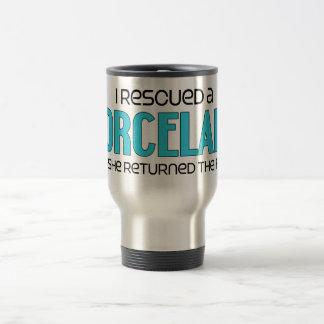 I Rescued a Porcelaine (Female Dog) Travel Mug